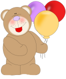 Bear Birthday Balloons